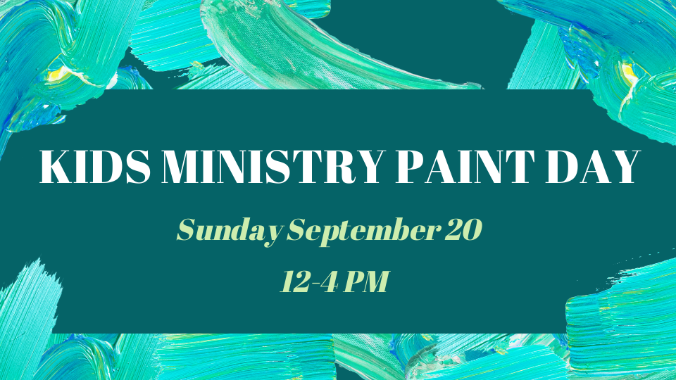 kids ministry paint day